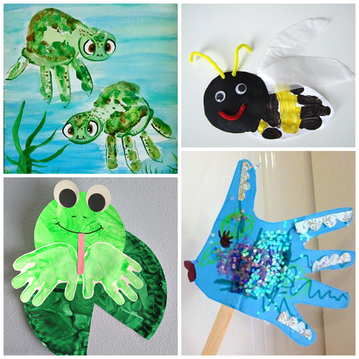 Fun Summer Handprint Crafts For Kids