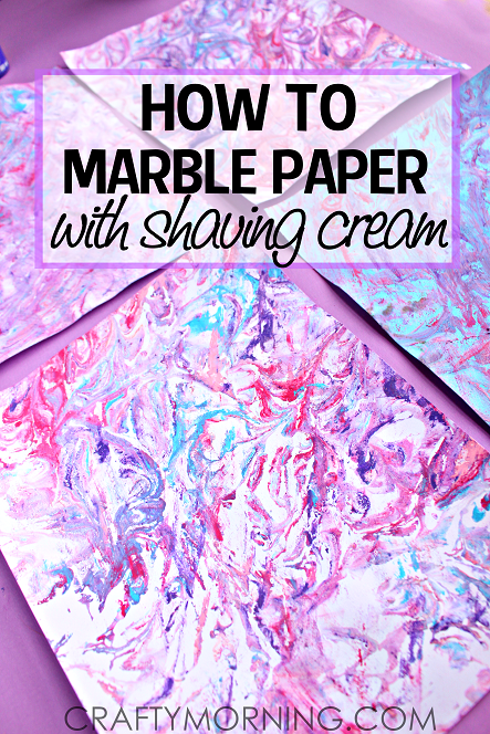 Shaving Cream Craft Projects