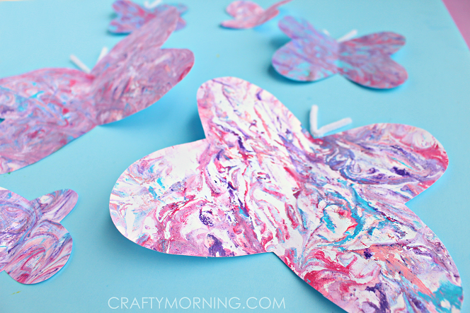 marbled-paper-butterfly-craft-for-kids