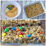 Homemade Mini M&M Granola Bars Recipe