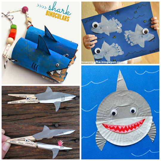 non scary shark crafts for kids to create crafty morning