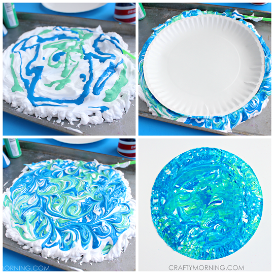 paper-plate-shaving-cream-marbled-earth-day-kids-craft