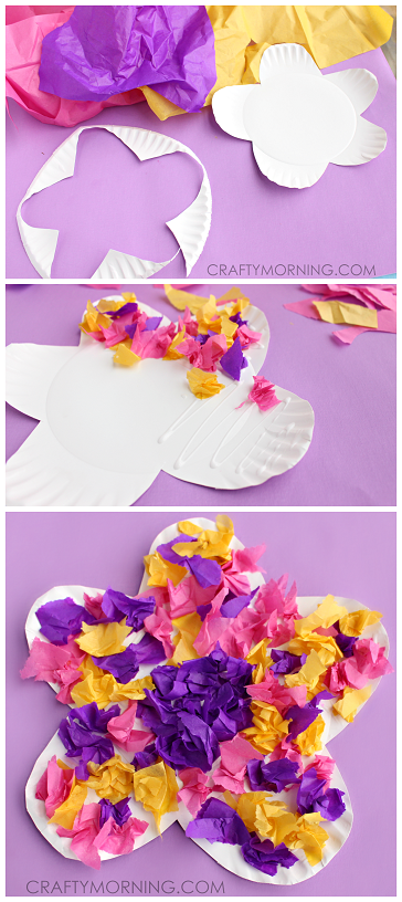 paper-plate-tissue-paper-flower-kids-craft-