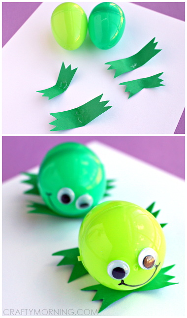 plastic-easter-egg-frog-craft-for-kids-
