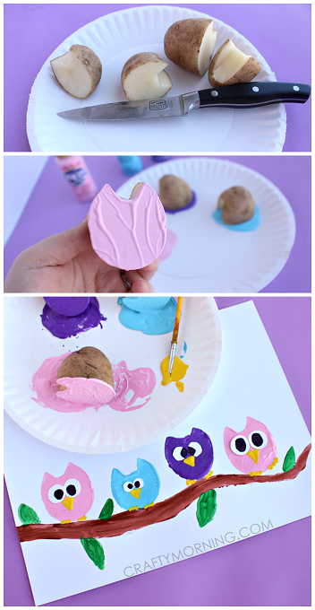 potato-print-owl-craft-for-kids-