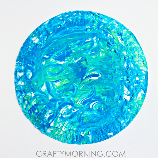 shaving-cream-marbled-earth-day-kids-craft-