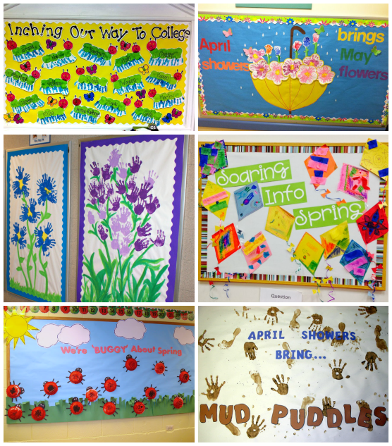 Spring Classroom Decorations To Make ~ Spring bulletin board ideas for the classroom crafty morning