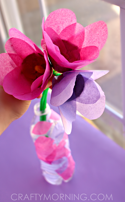 tissue-paper-egg-carton-flower-craft-for-kids