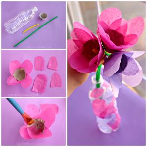 Tissue Paper & Egg Carton Tulips (Kids Craft)