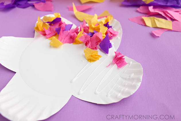 Paper Plate Flower Craft Using Tissue Paper Crafty Morning