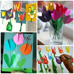 Beautiful Tulip Crafts that Kids Can Make