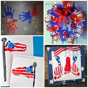 The Cutest 4th of July Handprint/Footprint Crafts