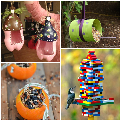 The coolest bird feeders for kids to make crafty morning for Bird feeder ideas