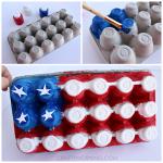 Egg Carton American Flag Craft for Kids