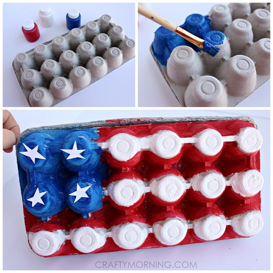 egg carton american flag craft for kids crafty morning. Black Bedroom Furniture Sets. Home Design Ideas