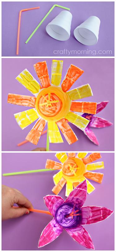styrofoam-cup-flower-kids-craft-