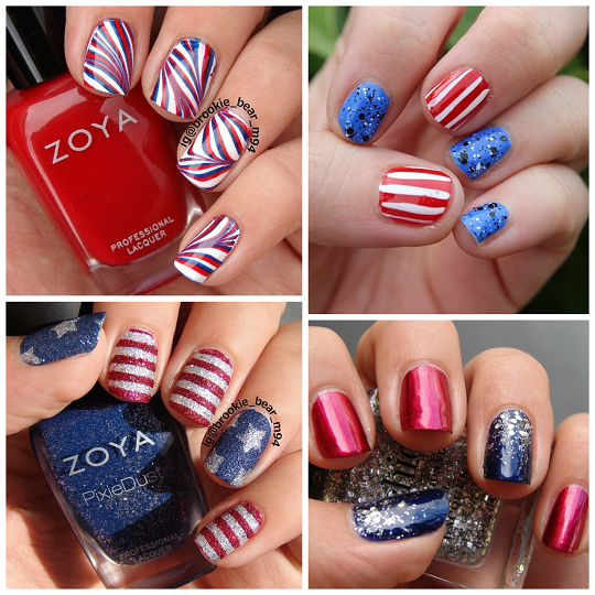 Patriotic 4th of july nail ideas crafty morning for 4th of july nail art decoration flag