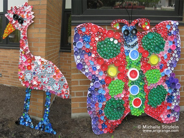 how to make bottle cap art