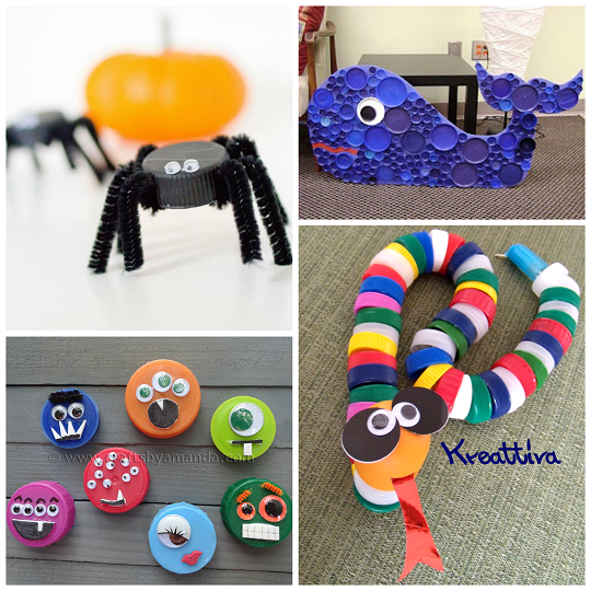 Plastic Bottle Cap Lid Crafts For Kids Crafty Morning Classy How To Decorate Bottle Caps