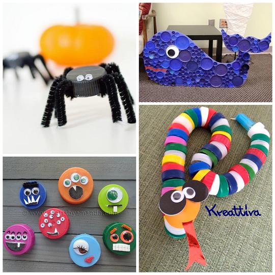 bottle-cap-lid-crafts-for-kids