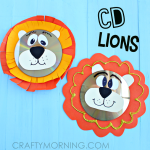 Recycled CD Lion Craft for Kids
