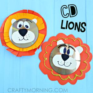 cd-lion-craft-for-kids-to-make