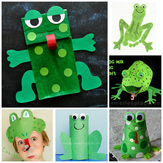 cute frog crafts for kids to create   crafty morning