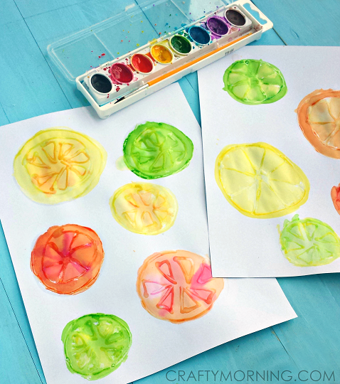 glue-watercolor-fruit-slices-kids-craft-idea