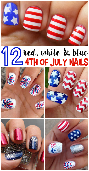 fourth of july press on nails