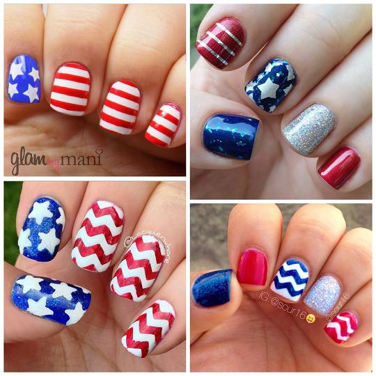 patriotic-4th-of-july-nail-art - Patriotic 4th Of July Nail Ideas - Crafty Morning