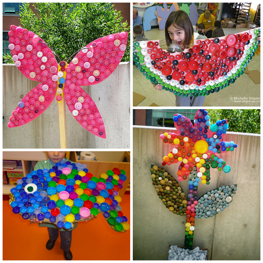 Plastic Bottle Cap Crafts To Make