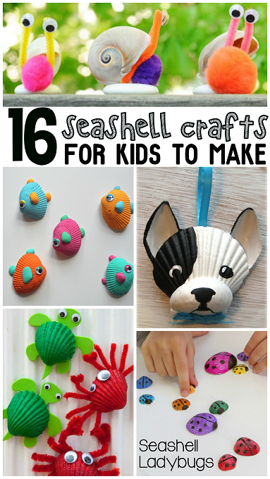 16 seashell crafts for kids to make - Pictures Of Crafts For Kids