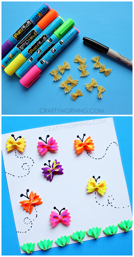 Noodle Butterflies Craft For Kids