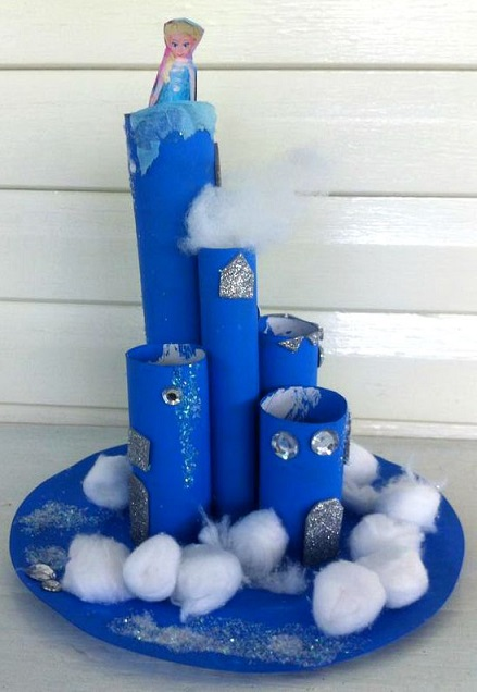 cardboard-tube-frozen-castle-craft-for-kids