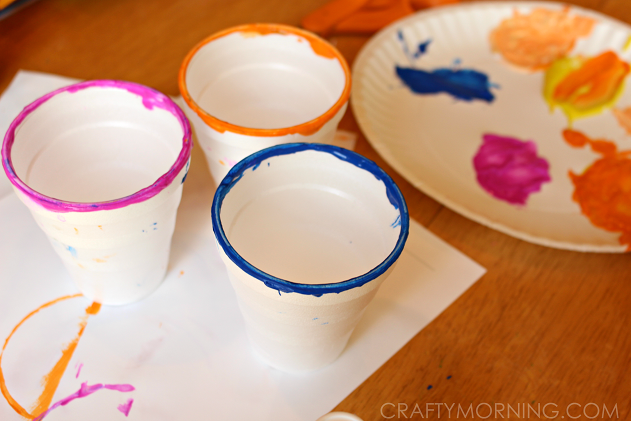 circle cup painting for kids craft - Painting Images For Kids