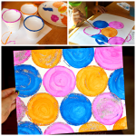 Easy Circle Cup Painting for Kids