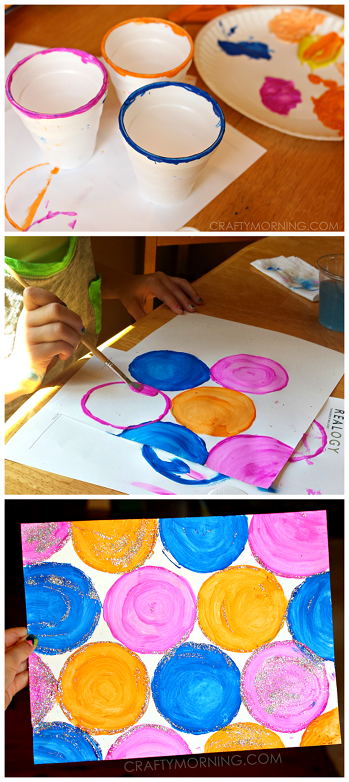 Easy Circle Cup Painting For Kids Crafty Morning