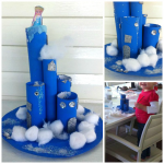 Cardboard Tube Elsa's Frozen Castle Craft