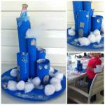 Cardboard Tube Elsa's Frozen Castle Craft