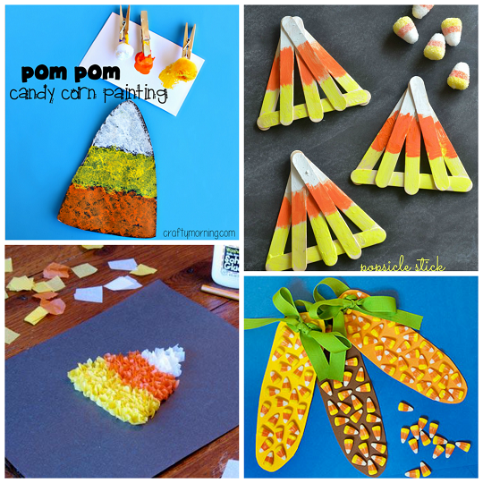 Candy corn crafts for kids to make crafty morning for Simple fall crafts for kids