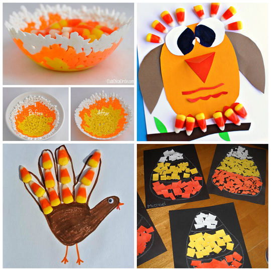 Fun Fall Candy Corn Crafts For Kids