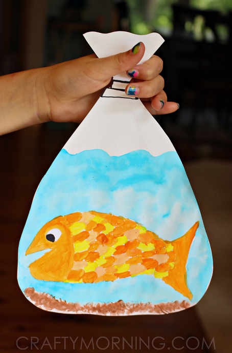 Goldfish In A Bag Painting Kids Craft Crafty Morning