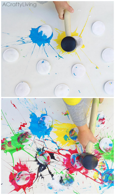 Paint splat art activity for kids crafty morning Fun painting ideas for toddlers