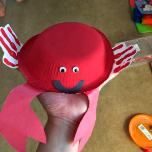 Paper Bowl Crab Craft for Kids