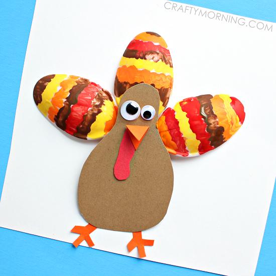 Plastic Spoon Turkey Thanksgiving Kids Craft