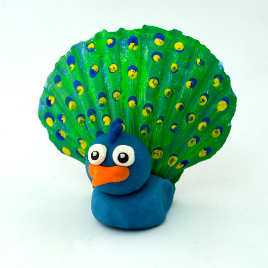 playdough-peacock-seashell-kids-craft-