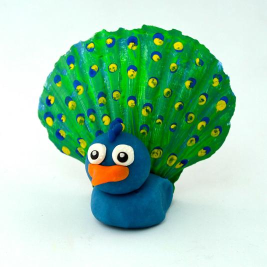 playdough-peacock-seashell-kids-craft-