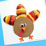 Plastic Spoon Turkey Craft for Kids