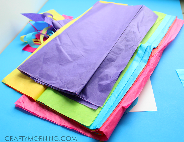Crafts Using Tissue Paper And Glue