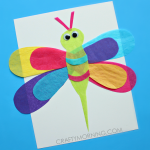 Tissue Paper Dragonfly Craft for Kids